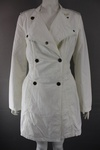 800 x FRESH SPIRIT BY ELLOS LADIES WHITE COTTON TRENCH COATS SIZES 36 TO 52 - JUST £4.00 EACH
