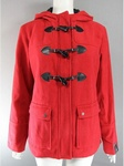 5200 RED LADIES HOODED DUFFEL COATS. RRP £18.00. JUST £4.50 EACH .