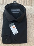 10,000 MENS BLACK LONG SLEEVED DRESS SHIRTS, SIZES 14 TO 18.5 INCH . JUST £1.75 EACH