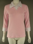 2700 x LADIES PINK 3/4 SLEEVE COLLARED TOPS, SIZE SMALL ONLY. JUST £1.25 EACH